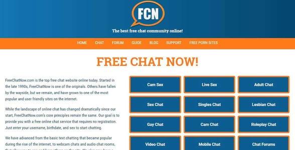 Screenshot of FreeChatNow