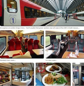Photos of London's King Cross Station and trains