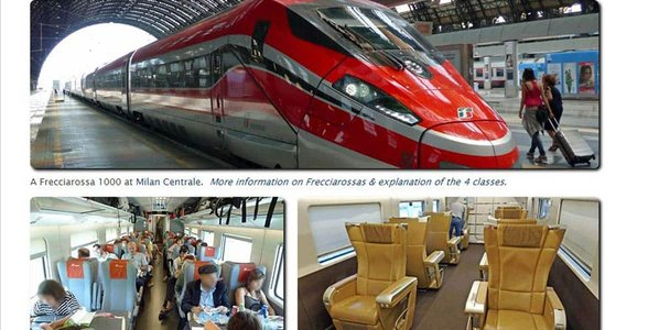 Photo of a Frecciarossa train at Milan