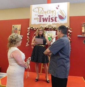 Photo of a wedding at Painting with a Twist