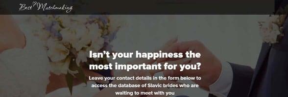 Screenshot of Best-Matchmaking website