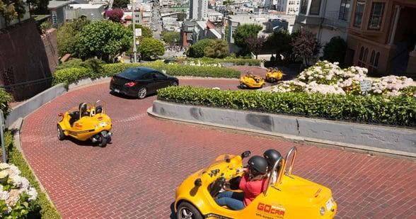 GoCar Tours vehicles in San Francisco