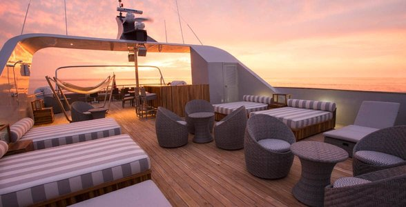 Photo of the Origin's sundeck
