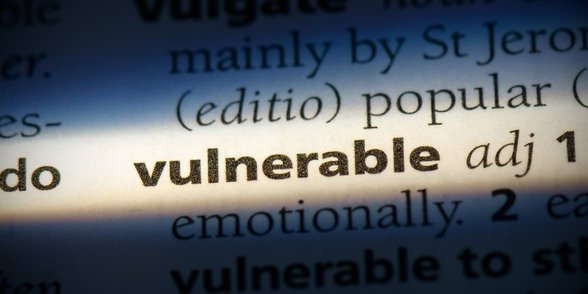 Photo of the word vulnerable