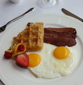 Photo of eggs and waffles at Shearn's