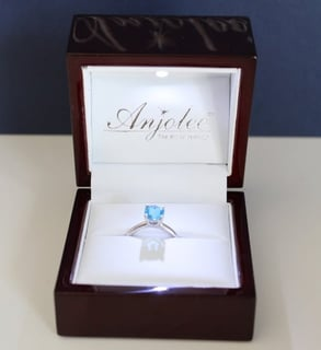 Photo of Anjolee ring in a box
