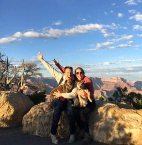 Photo of Jason and Kimberly on a hiking trip
