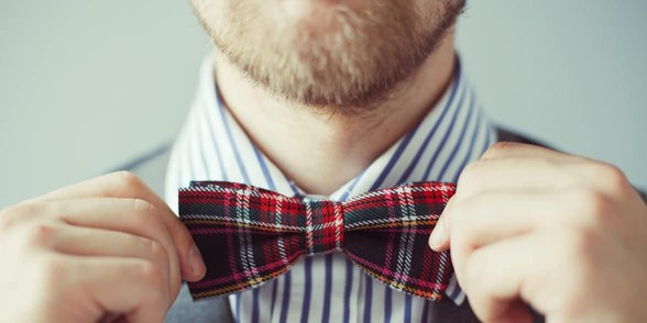 Photo of a man with a bow tie