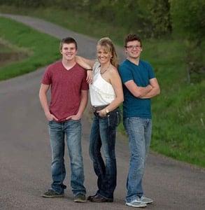 Photo of Dana, Justin, and Jaden Sacia