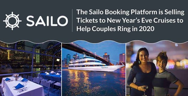 The Sailo Booking Platform is Selling Tickets to New Year's Eve Cruises to Help Couples Ring in 2020
