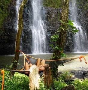 Photo of two women in a Tentsile hammock