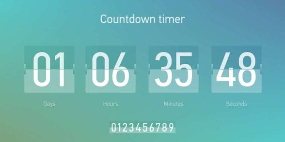 Countdown graphic