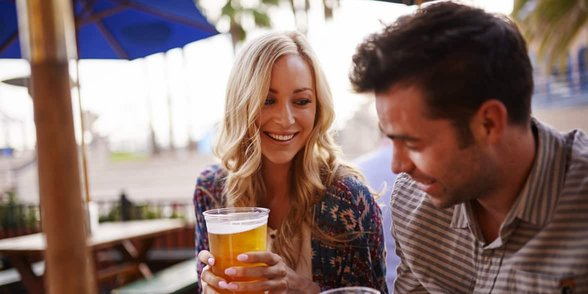 Photo of a couple drinking
