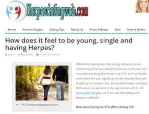Screenshot of the HerpesDatingWeb blog