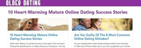 Screenshot of the Older-Dating blog