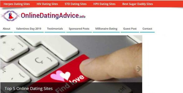 Screenshot of OnlineDatingAdvice.info