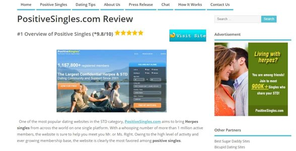 The PositiveSingles review
