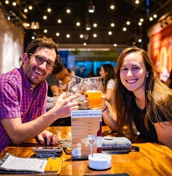 Photo of a couple at PSBC's Tap Room