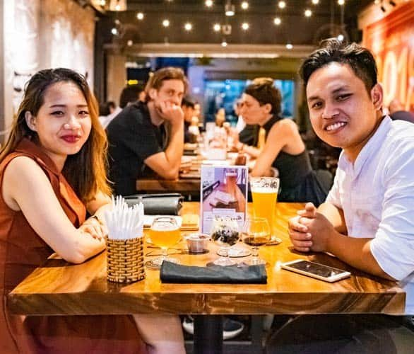 Photo of couples at PSBC's Tap Room