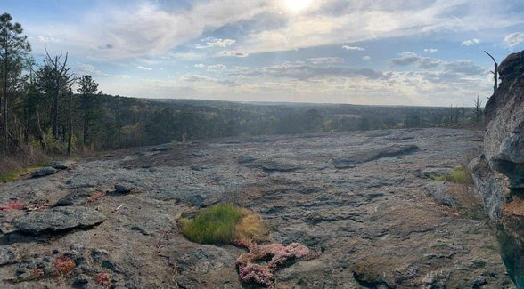 Photo of a view from the Arabia Mountain National Heritage Area