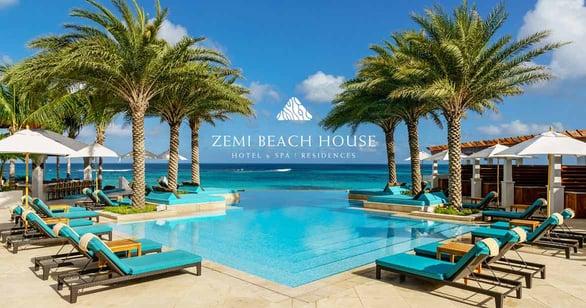 Photo of Zemi Beach House pool with logo