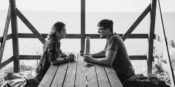 Photo of couple talking