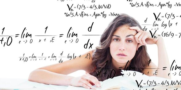 Photo of woman doing math