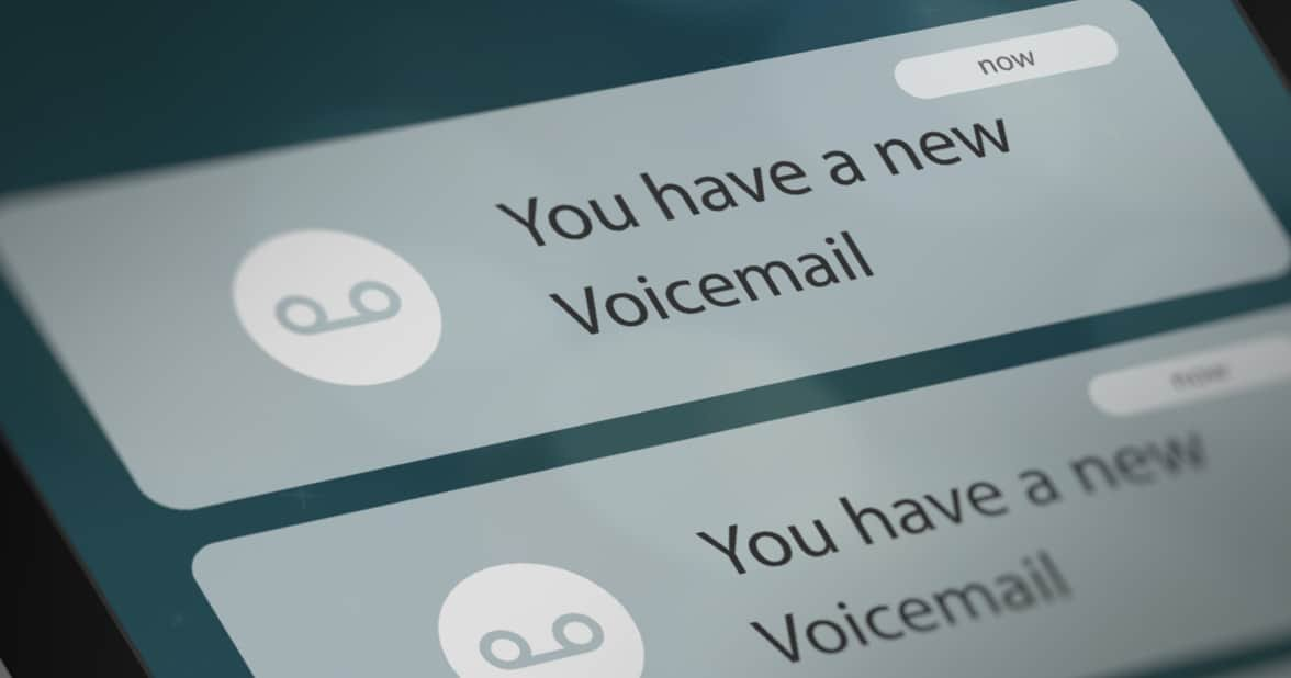 Photo of voicemail notification