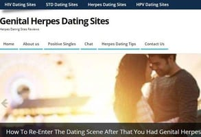Screenshot of GenitalHerpesDatingSites.info