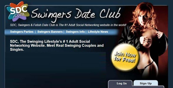 Screenshot of Swingers Date Club