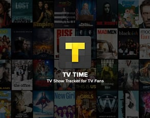 Screenshot of TV Time banner