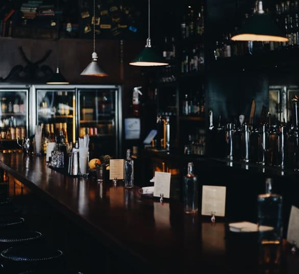 Photo of the bar at the Smith
