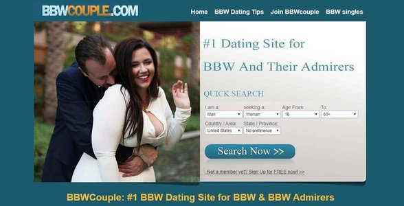 Screenshot of BBWCouple.com