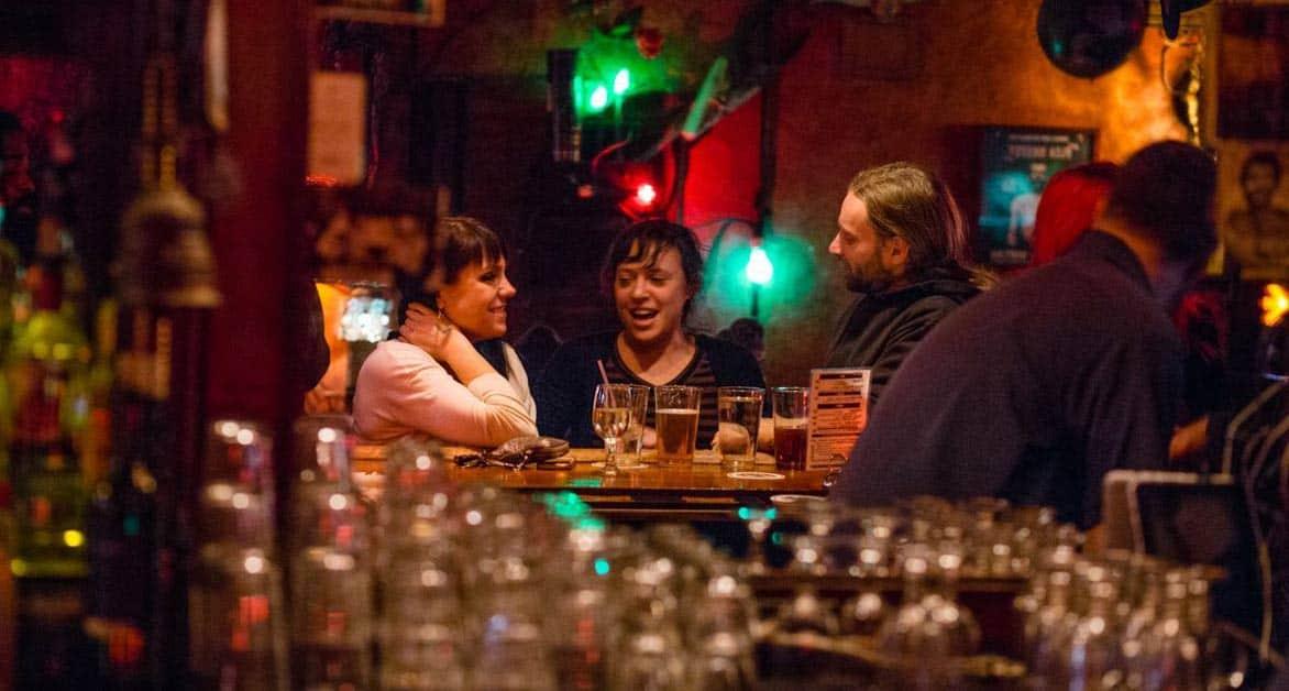 Photo of patrons at Freddy's Bar & Backroom