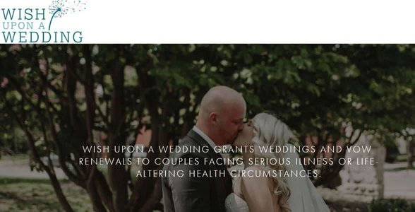 Screenshot from the Wish Upon a Wedding website