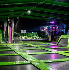 Photo of a Flip Out trampoline park