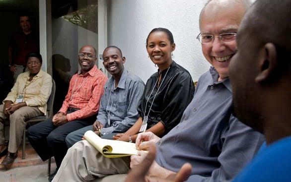 Photo of Dr. James Gordon teaching a group