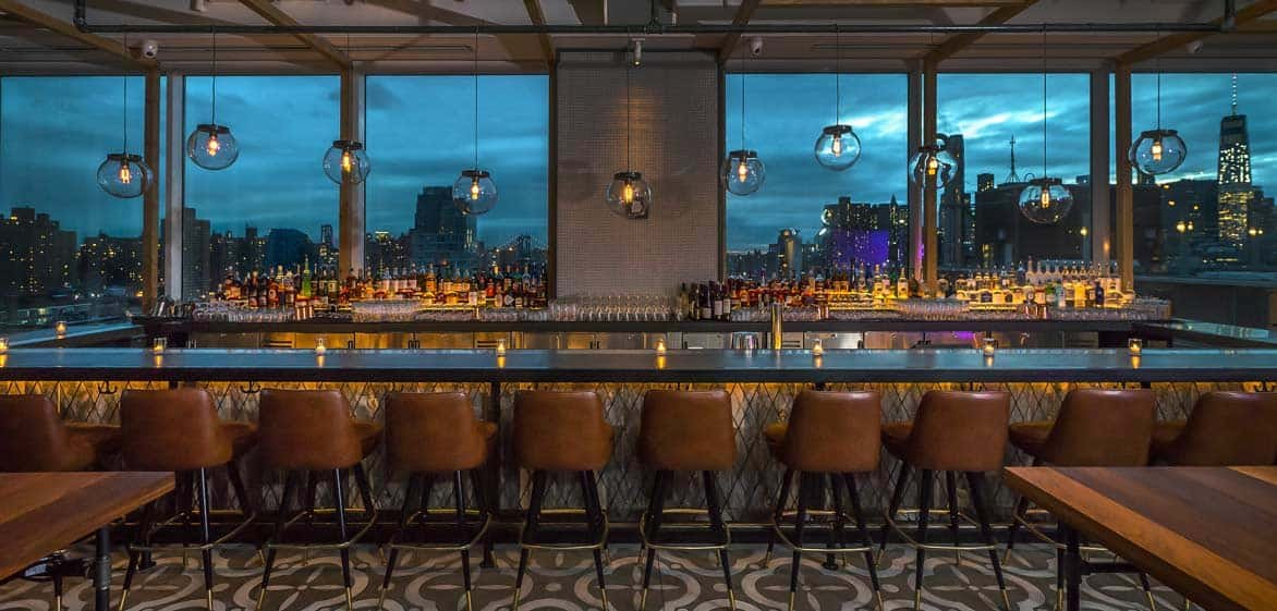 Photo of Mr. Purple inside bar