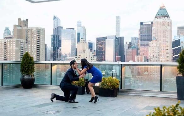 Photo of a Paparazzi Proposals client