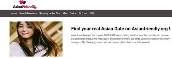 Screenshot of AsianFriendly.org