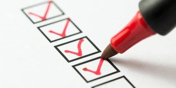 Photo of checklist