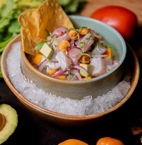 Picture of ceviche from Richard Sandoval Hospitality