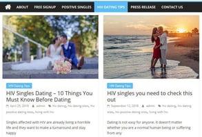 Screenshot of HIVPositiveDatingSites.org