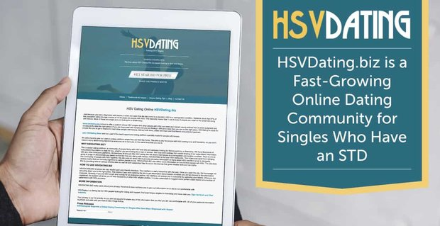 HSVDating.biz is a Fast-Growing Online Dating Community for Singles Who Have an STD
