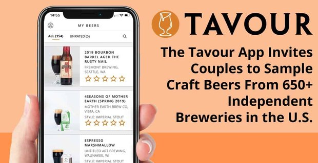 The Tavour App Invites Couples to Sample Craft Beers From 650+ Independent Breweries in the U.S.
