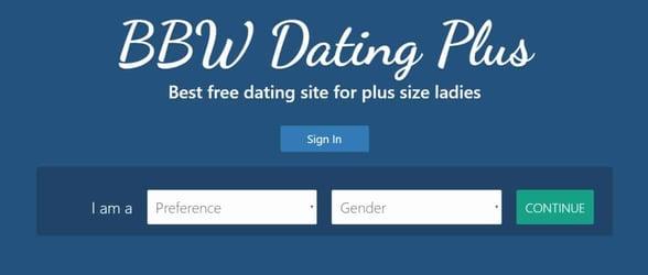 Screenshot of BBWDatingPlus.com