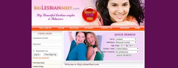 Screenshot of BigLesbianMeet
