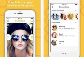 Screenshots of Bumble