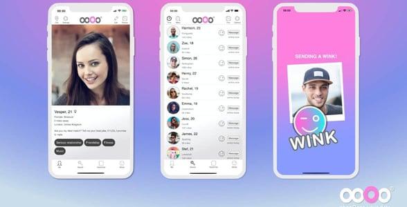 Screenshots of the ooOo app