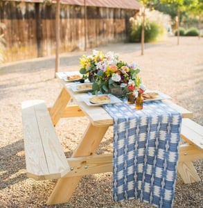 Photo of a picnic table